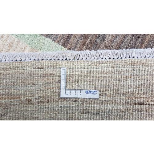 Handgeknoopt Modern Art Deco tapijt 296x203cm  oosters kleed vloerkleed  multi