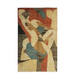 ZARGAR RUGS Handgeknüpft Modern Art Deco 281x179cm Abstrakt Wolle Teppich multi