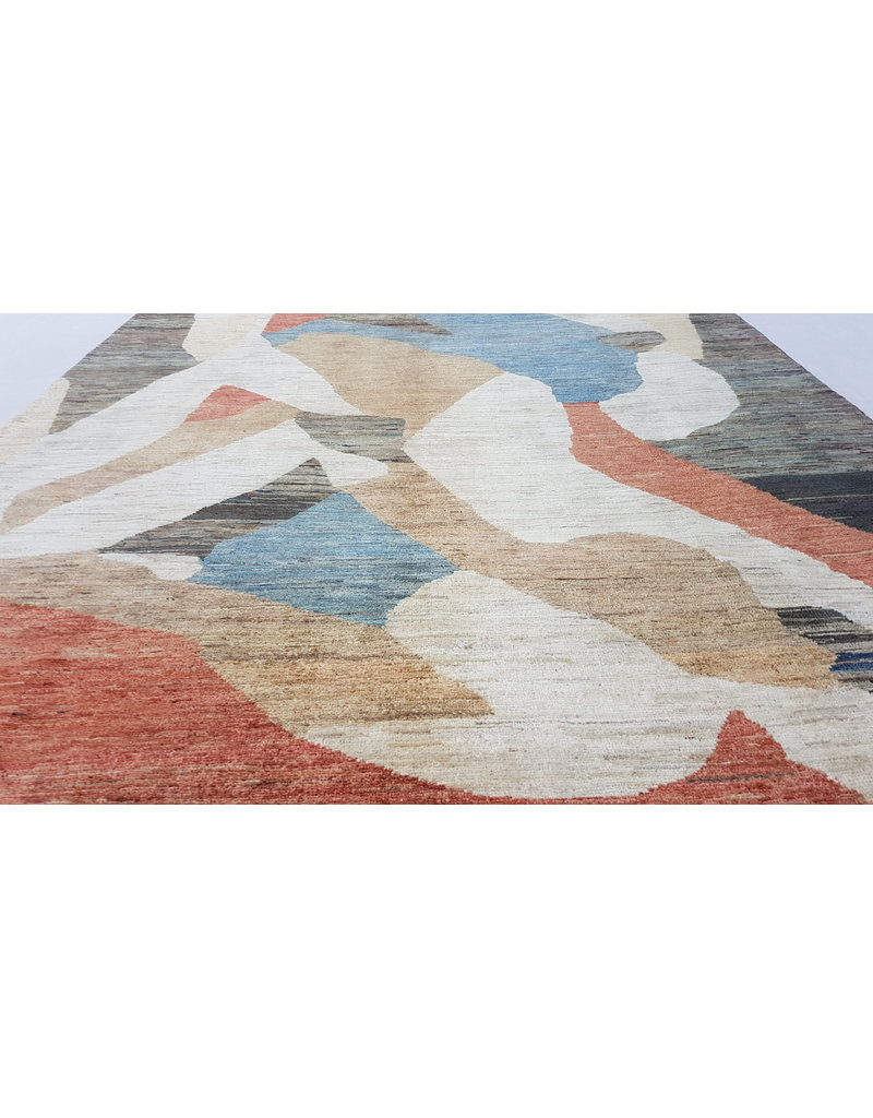 ZARGAR RUGS Hand knotted 9'21x6'46 Modern  Art Deco Wool Rug 281x179cm Abstract Carpet   multi