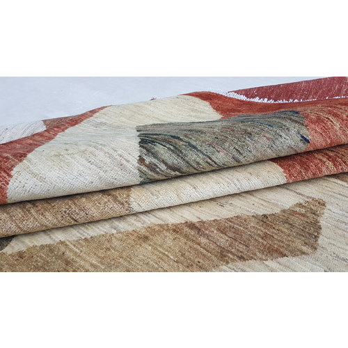 Hand knotted 9'21x6'46 Modern  Art Deco Wool Rug 281x179cm Abstract Carpet   multi