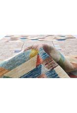 ZARGAR RUGS Handgeknüpft Modern Art Deco  295x200 cm Abstrakt Wolle Teppich multi