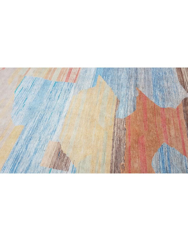 ZARGAR RUGS Handgeknüpft Modern Art Deco  288x205cm Abstrakt Wolle Teppich multi