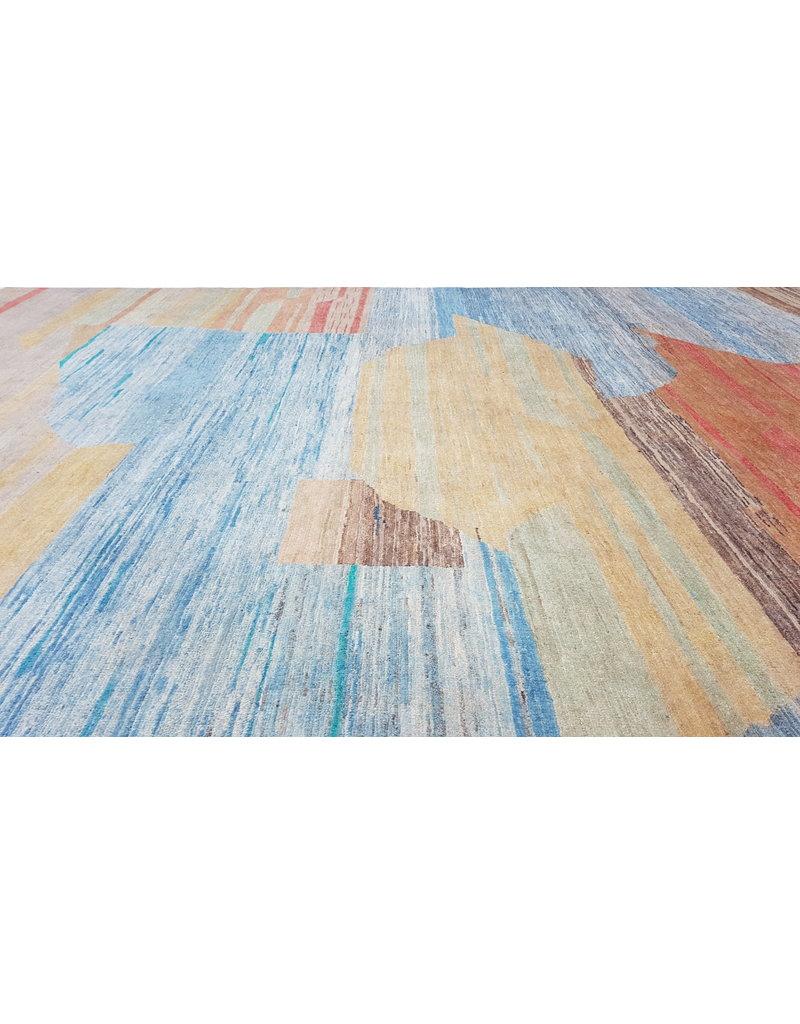 ZARGAR RUGS Hand knotted 9'44x6'72 Modern  Art Deco Wool Rug  288x205cm Abstract Carpet   multi