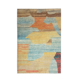 ZARGAR RUGS Hand knotted 9'44x6'72 Modern  Art Deco Wool Rug  288x205cm Abstract Carpet   multi