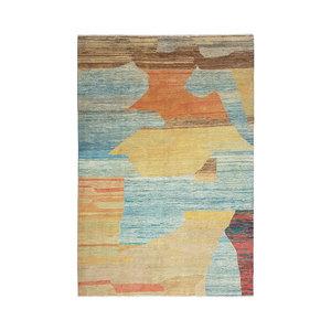 Handgeknüpft Modern Art Deco  288x205cm Abstrakt Wolle Teppich multi