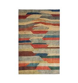 ZARGAR RUGS Handgeknoopt Modern Art Deco tapijt 296x198cm  oosters kleed vloerkleed  multi