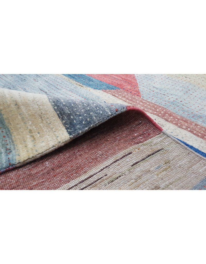 ZARGAR RUGS Hand knotted 8'82x6'49 Modern  Art Deco Wool Rug  296x198cm Abstract Carpet   multi