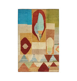 ZARGAR RUGS Hand knotted 9'67x6'62 Modern  Art Deco Wool Rug  295x202cm Abstract Carpet   multi