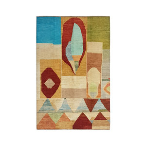 Handgeknoopt Modern Art Deco tapijt 295x202cm  oosters kleed vloerkleed  multi
