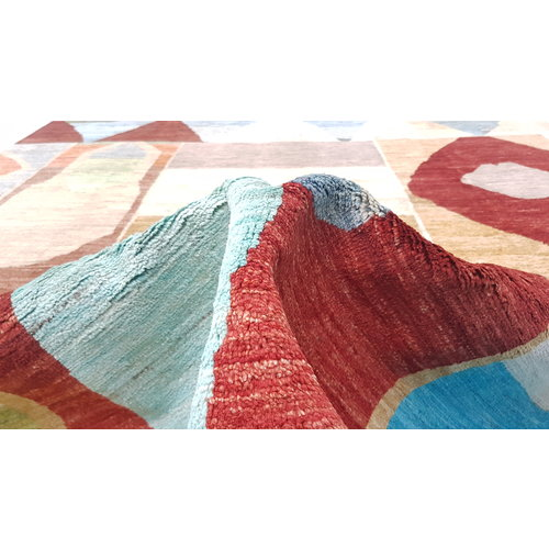 Hand knotted 9'67x6'62 Modern  Art Deco Wool Rug  295x202cm Abstract Carpet   multi