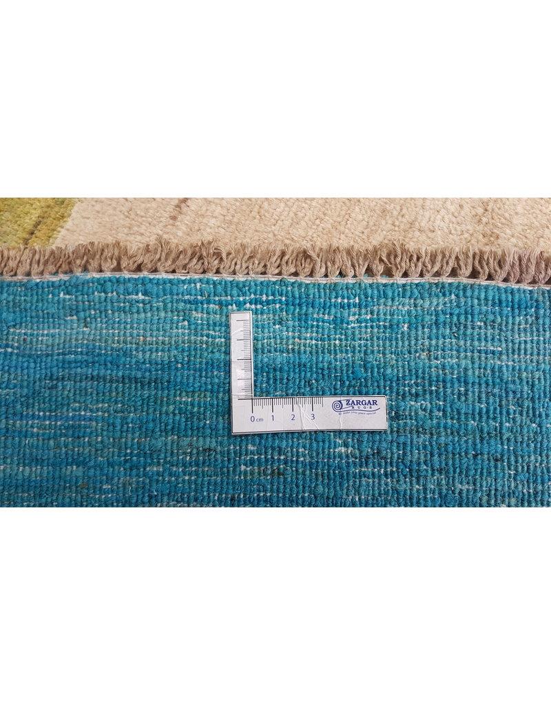 ZARGAR RUGS  Handgeknoopt Modern Art Deco tapijt 295x202cm  oosters kleed vloerkleed  multi
