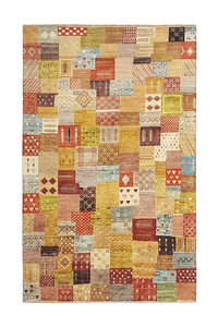 Hand knotted 9'74x6'46 Modern  Art Deco Wool Rug  297x197cm Abstract Carpet   multi