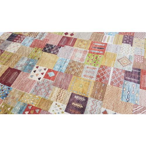 Handgeknoopt Modern Art Deco tapijt 297x197cm  oosters kleed vloerkleed  multi