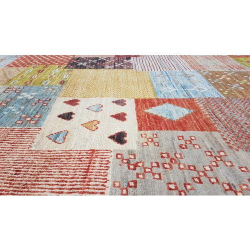 Handgeknüpft Modern Art Deco  297x197cm Abstrakt Wolle Teppich multi