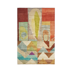 Hand knotted 9'71x6'43 Modern  Art Deco Wool Rug  296x196cm Abstract Carpet   multi