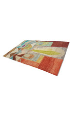 ZARGAR RUGS Handgeknüpft Modern Art Deco 296x196cm Abstrakt Wolle Teppich multi