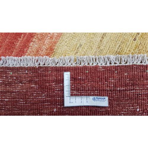 Handgeknüpft Modern Art Deco 296x196cm Abstrakt Wolle Teppich multi