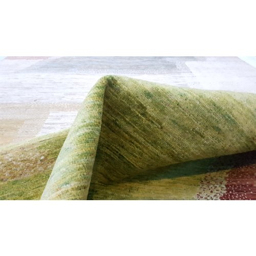 Hand knotted 9'77x6'46 Modern  Art Deco Wool Rug  298x197cm Abstract Carpet   multi