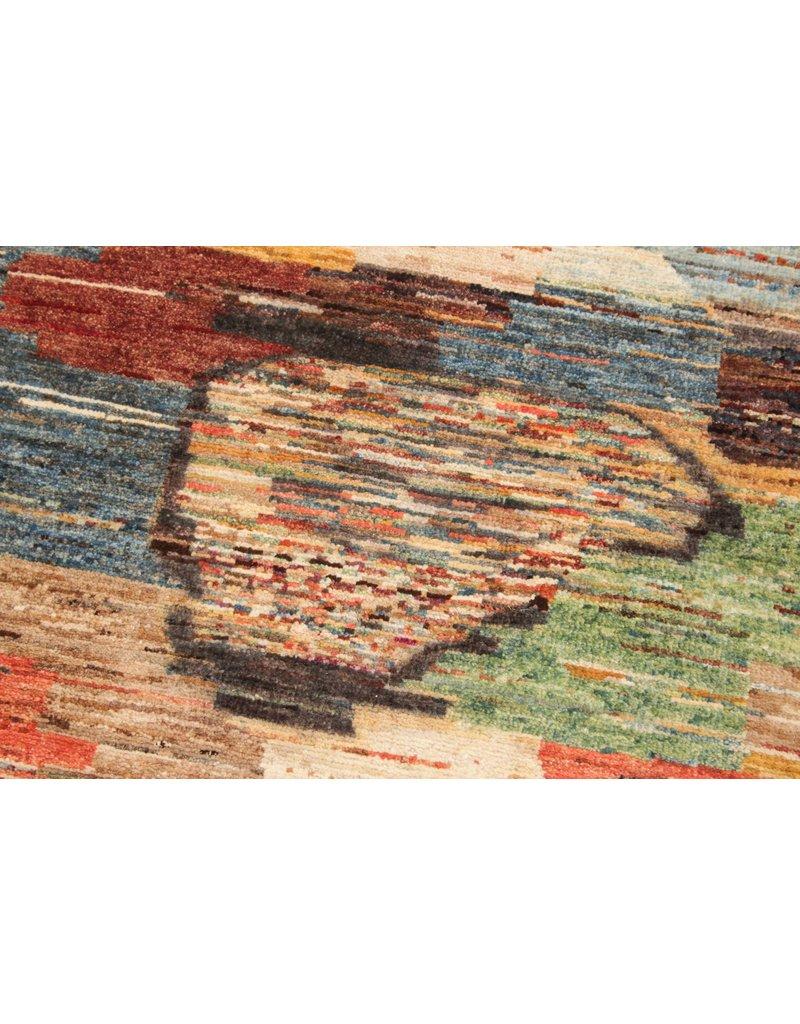 ZARGAR RUGS  Handgeknoopt Modern Art Deco tapijt 295x201cm  oosters kleed vloerkleed  multi