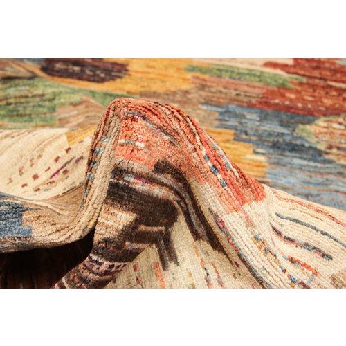 Handgeknüpft Modern Art Deco 295x201cm  Abstrakt Wolle Teppich multi