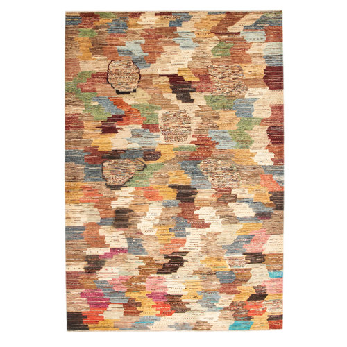 Hand knotted 9'67x6'59 Modern  Art Deco Wool Rug  295x201cm  Abstract Carpet   multi