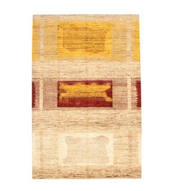 ZARGAR RUGS Hand knotted 9'54x6'36 Modern  Art Deco Wool Rug   291x194cm Abstract Carpet   multi