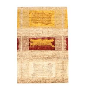 Handgeknüpft Modern Art Deco 291x194cm Abstrakt Wolle Teppich multi