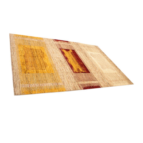 Hand knotted 9'54x6'36 Modern  Art Deco Wool Rug   291x194cm Abstract Carpet   multi