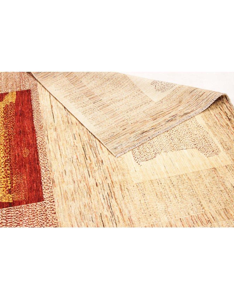 ZARGAR RUGS  Handgeknoopt Modern Art Deco tapijt 291x194cm  oosters kleed vloerkleed  multi