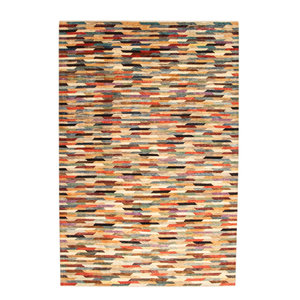 Hand knotted 9'84x6'62 Modern  Art Deco Wool Rug 300x202cm  Abstract Carpet   multi