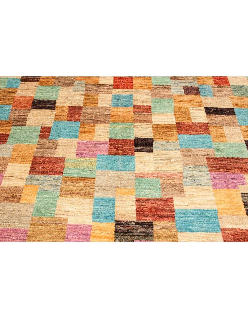 ZARGAR RUGS Handgeknüpft Modern Art Deco 307x206cm  Abstrakt Wolle Teppich multi