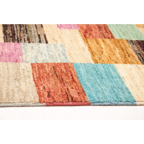 Handgeknoopt Modern Art Deco tapijt 307x206cm  oosters kleed vloerkleed  multi