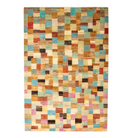 ZARGAR RUGS Hand knotted 10'07x6'75 Modern  Art Deco Wool Rug 307x206cm   Abstract Carpet   multi