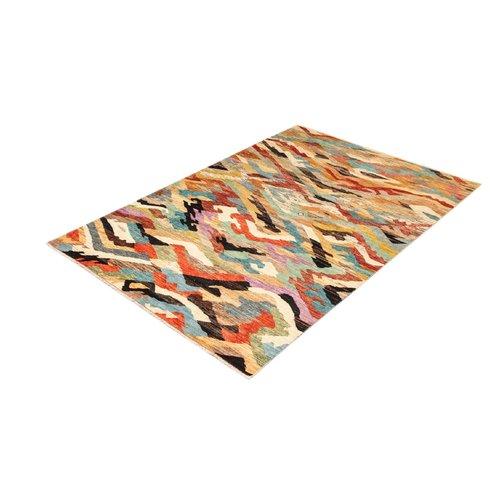 Handgeknoopt Modern Art Deco tapijt 301x204cm  oosters kleed vloerkleed  multi