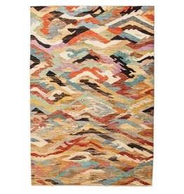 ZARGAR RUGS Handgeknüpft Modern Art Deco 301x204cm Abstrakt Wolle Teppich multi