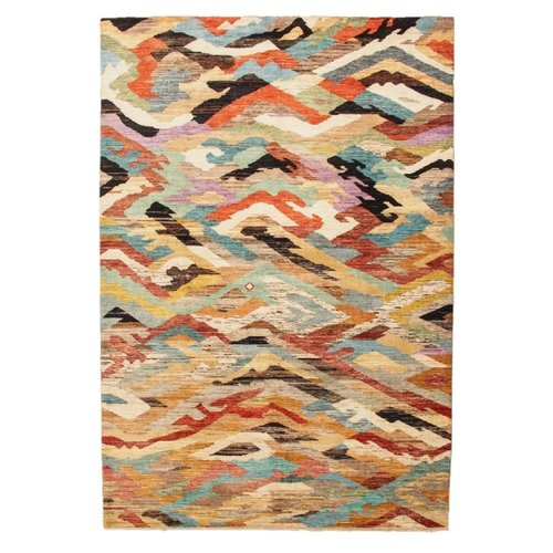 Hand knotted 9'87x6'69 Modern  Art Deco Wool Rug   301x204cm Abstract Carpet   multi