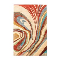 Hand knotted 9'90x6'39 Modern  Art Deco Wool Rug 302x195cm  Abstract Carpet   multi