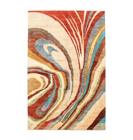 ZARGAR RUGS Hand knotted 9'90x6'39 Modern  Art Deco Wool Rug 302x195cm  Abstract Carpet   multi