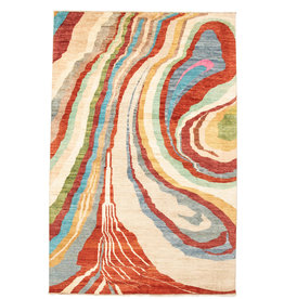 ZARGAR RUGS Handgeknoopt Modern Art Deco tapijt 301x206cm  oosters kleed vloerkleed  multi
