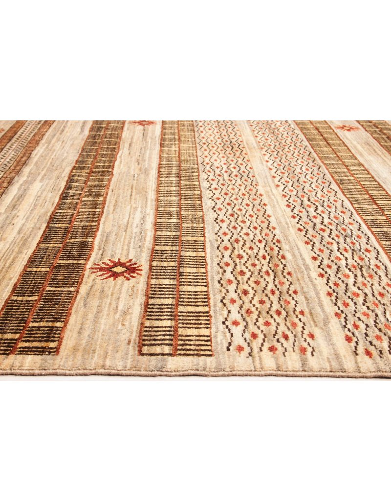 ZARGAR RUGS Hand knotted 9'18x6'03 Modern  Art Deco Wool Rug 280x184cm   Abstract Carpet   multi