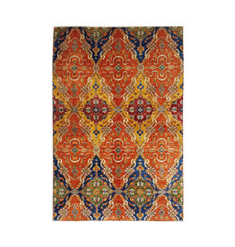 super fijn oriental kazak vloerkleed 338x243 cm ikat