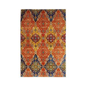 (11'0 x 7'97) feet super fine oriental kazak rug 338x243 cm ikat