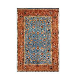 super fijn oriental kazak vloerkleed 359x259 cm blue