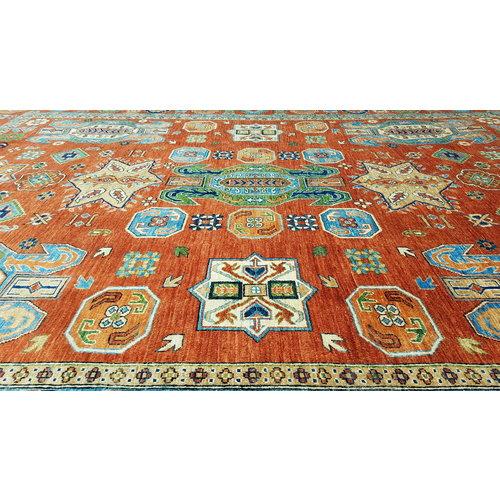 (11'5 x 8'7) feet super fine oriental kazak rug 353x268 cm