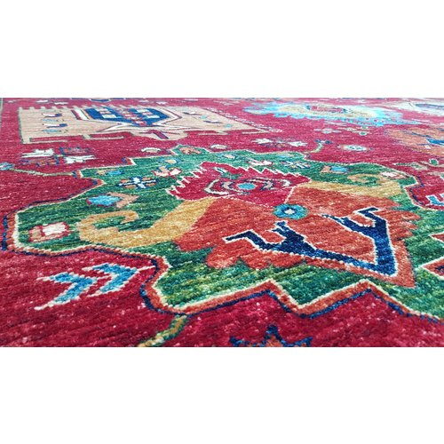 (11'3 x 8'4) feet super fine oriental kazak rug  362x278 cm