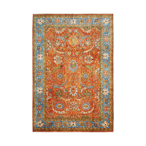 super fein oriental kazak teppich 348x260 cm