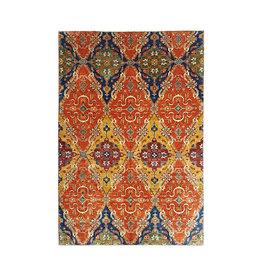 (11'2 x 8'1) feet super fine oriental kazak rug  343x247 cm ikat