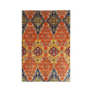 super fein oriental kazak teppich  343x247 cm ikat
