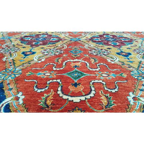 (11'2 x 8'1)feett super fine oriental kazak rug  343x247 cm