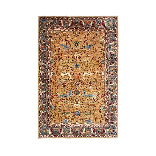 (11'4 x 8'1) feet super fine oriental kazak rug 350x249cm